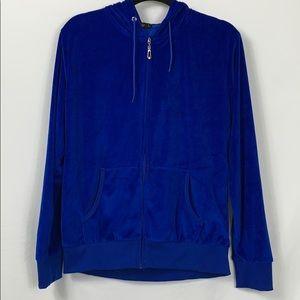 TanBridge Lg royal blue hooded full zip jacket